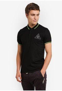 Pria > Pakaian > Atasan > Polo Shirt > Triangle Logo Motif Polo > JAXON