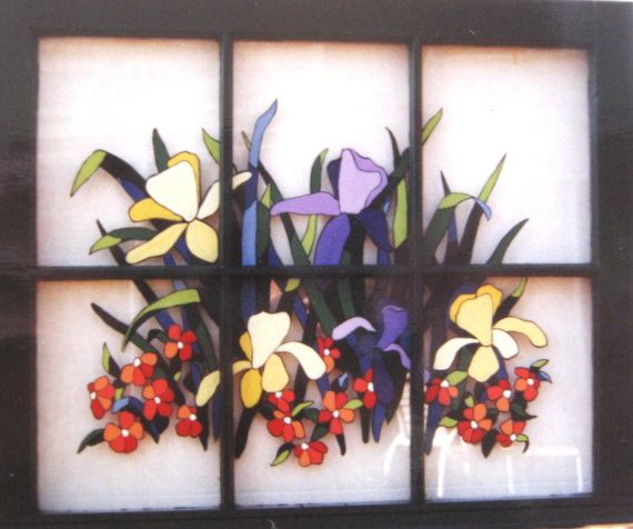 70 best lily flower decor images on pinterest bricolage Mural glass painting