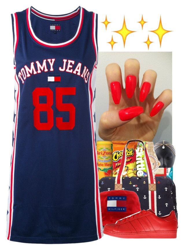 """Untitled #222"" by shaymacc ❤ liked on Polyvore featuring Tommy Hilfiger and adidas Originals"