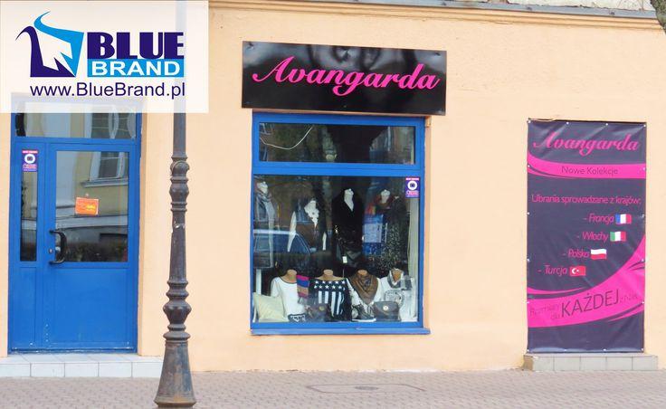 kaseton podświetlany LED i baner reklamowy - projekt i wykonanie www.BlueBrand.pl #BlueBrand #AgencjaReklamowa #reklama