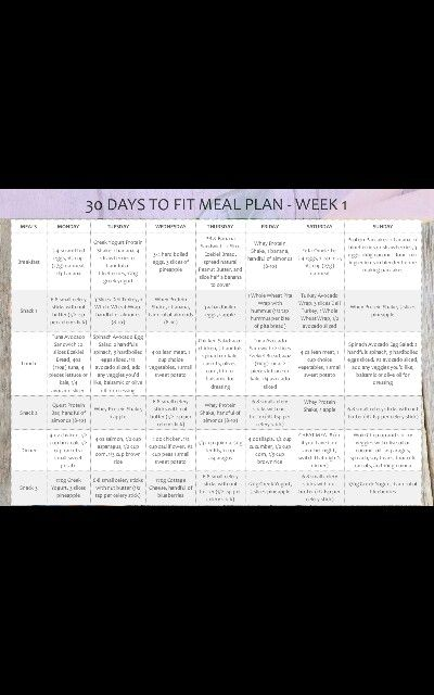 Emily Skye Fit Meal Plan | Weight Loss Meals | Pinterest ...