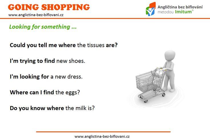 Máte rádi nakupování? Naučte se několik užitečných frází, které vám pomohou najít v obchodě to, co hledáte.  #goingshopping