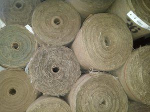 Our selection of burlap rolls - they work perfectly as table runners for rustic weddings!