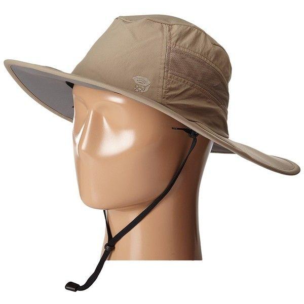 Mountain Hardwear Mountainous Jones Hat (Khaki) Safari Hats ($28) ❤ liked on Polyvore featuring accessories, hats, sun hat, safari hat, beach hats, mesh hats and mountain hardwear