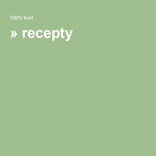 » recepty RAW