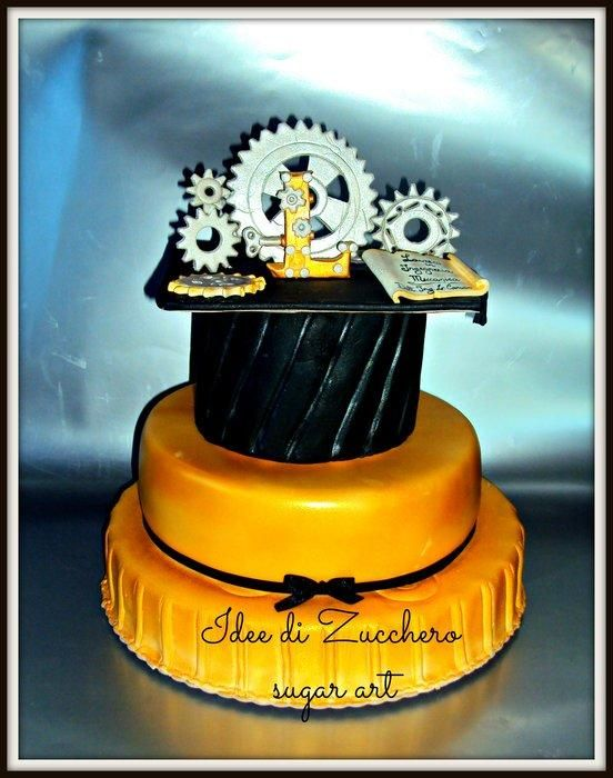 degree in mechanical engineering - Cake by Olma Iacono