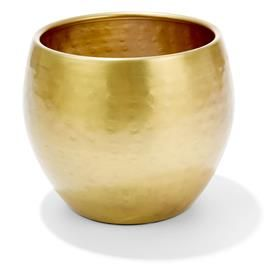 19cm Brass Finish Pot
