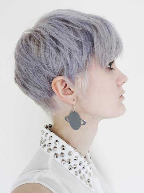 Intense ash blonde hair - to achieve this colour, lighten to light yellow and tone with a violet-blue based toner...