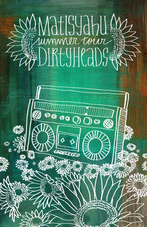 For the contest to create a Matisyahu & Dirty Heads 2012 North American Tour Poster by Manx Design Studio on CreativeAllies.com
