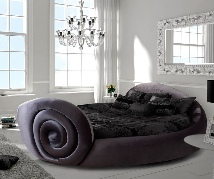 Round Bed Frame Only | FREE DELIVERY | Beds Direct UK  ide Range Of #Round #Bed #Frame Available with #Discount at Bedsdirectuk.net  #Beds #Furniture #RoundBed #fashion