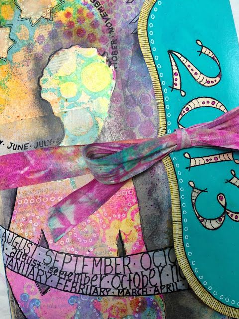 Playing With Paint: MAKING AN ART JOURNAL CALENDAR FOR 2013