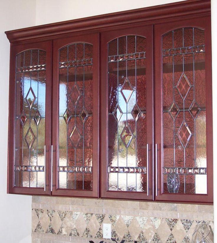 137 best glass cabinet doors images on Pinterest | Cabinet doors ...