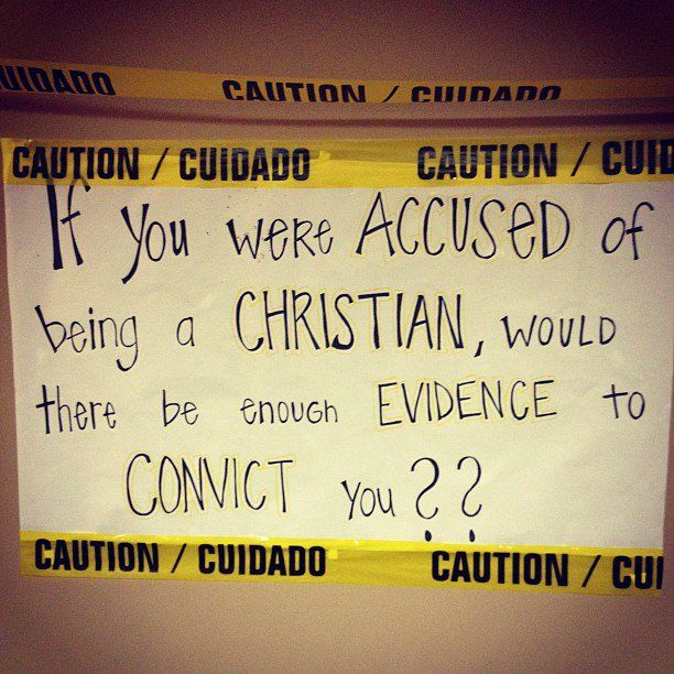 I think it is interesting that the term 'Christian' was first used by those who were not. The evidence of a different life was so evident, folks had to come up with a term to classify them.