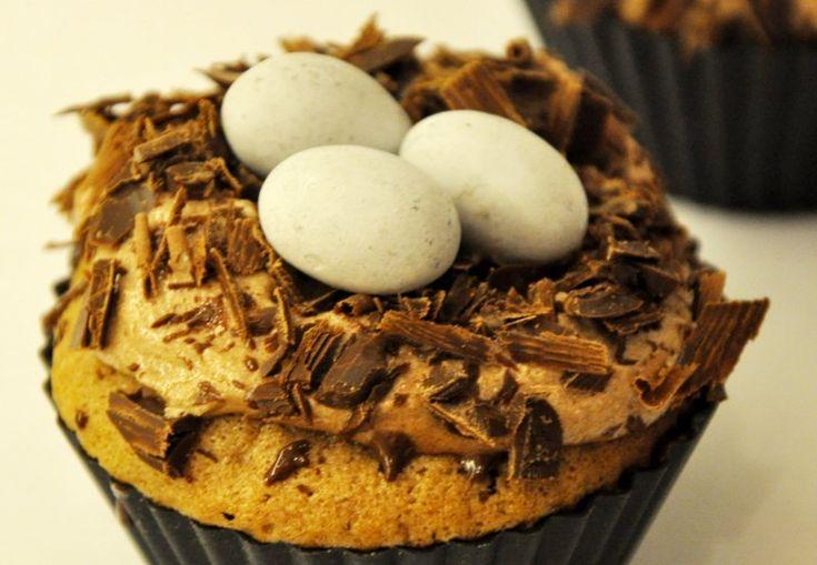 Påske cupcakes - fuglereder, USA,Påske, Lækkeri, Bagværk, opskrift