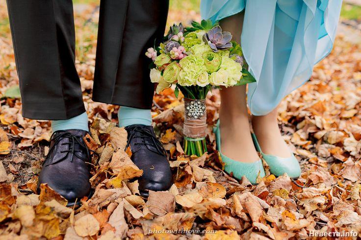 fantastic blue autumn wedding