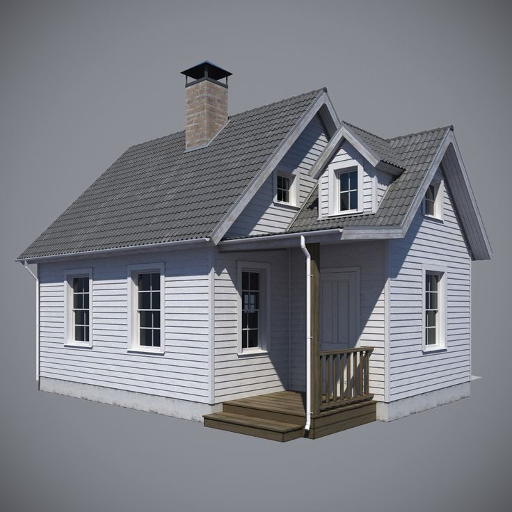 3d model realistic country house