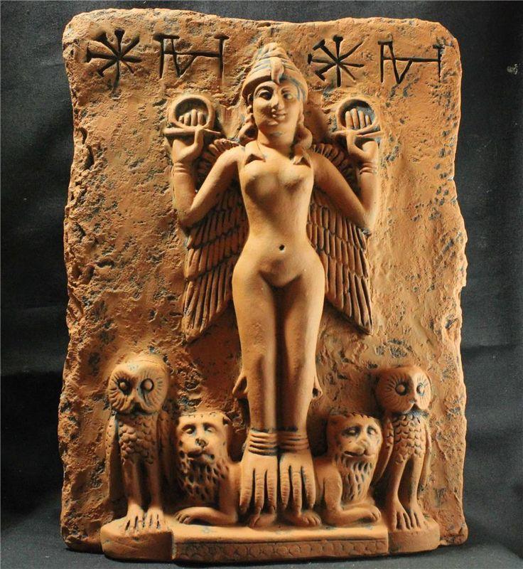 "GODDESS ISHTAR ""Queen Of The Night"" Babylonian Goddess relief   eBay"