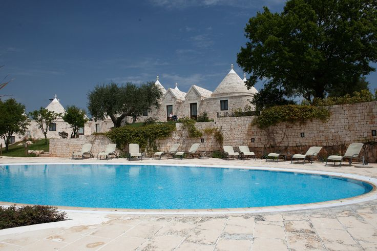 Trulli village with a wonderful swimming pool