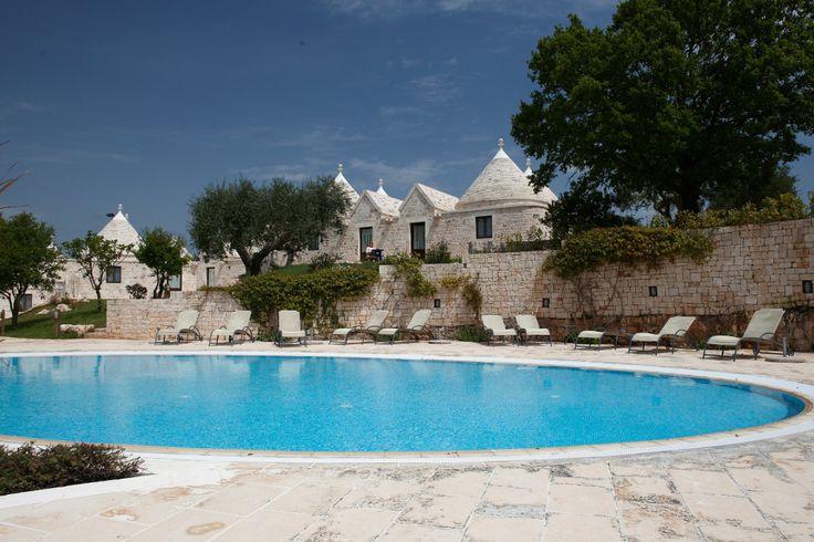 Trulli village with a wonderful swimming pool