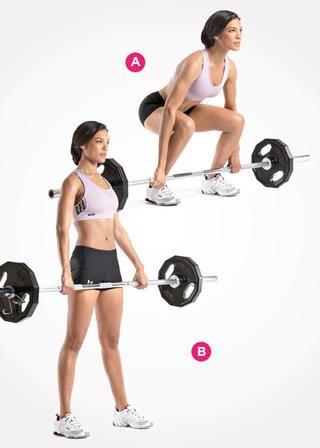 Barbell Deadlift  http://www.womenshealthmag.com/fitness/best-butt-exercises/single-leg-hip-raise
