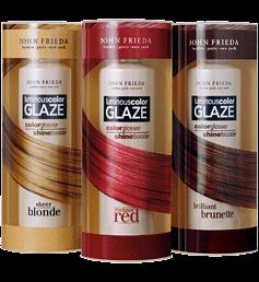 This glaze adds shine and and makes my hair a shade darker. I have red hair and I use the brunette glaze. Love the result and I never color my hair or have roots. After washing, put it on for 3 min and rinse it out. It also covers any grays!