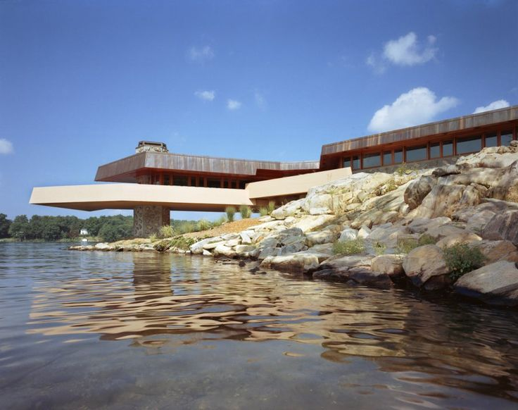 Frank Lloyd Wright home in NY, on a great shaped island