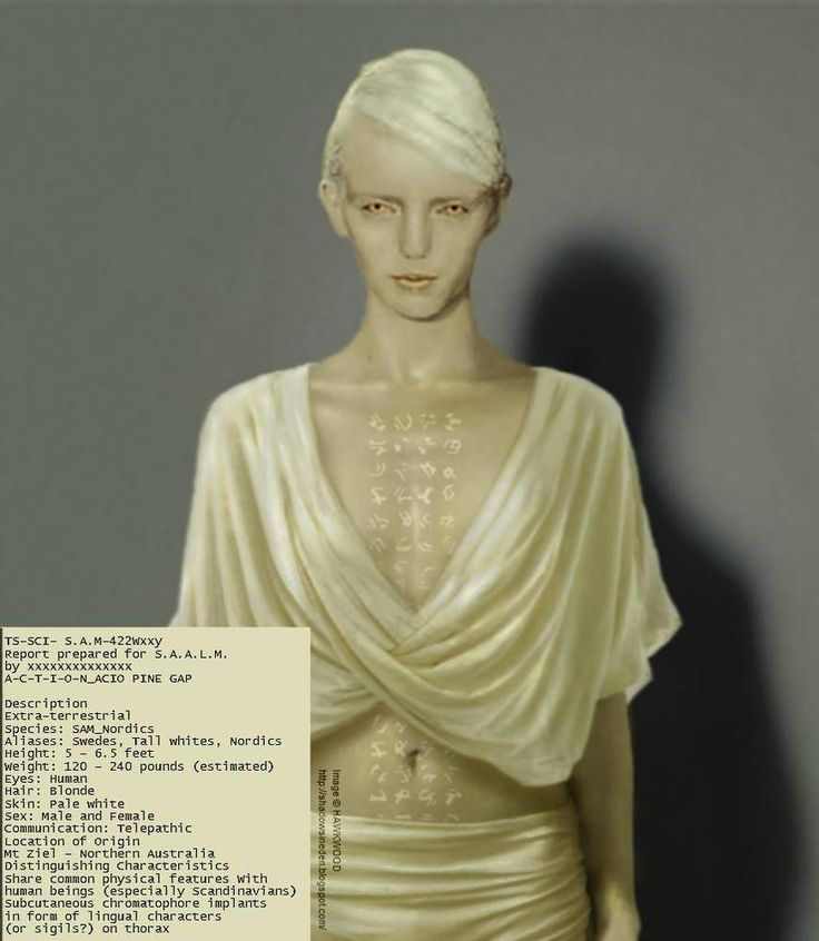 Tall White Alien Female- Pine Gap, Australia. There is a hell of a lot we are not being told about the secret deals the US Military have done with Alien civilizations visiting this planet. If you want the big picture then watch The Book of Man enigma series http://vimeo.com/84937720