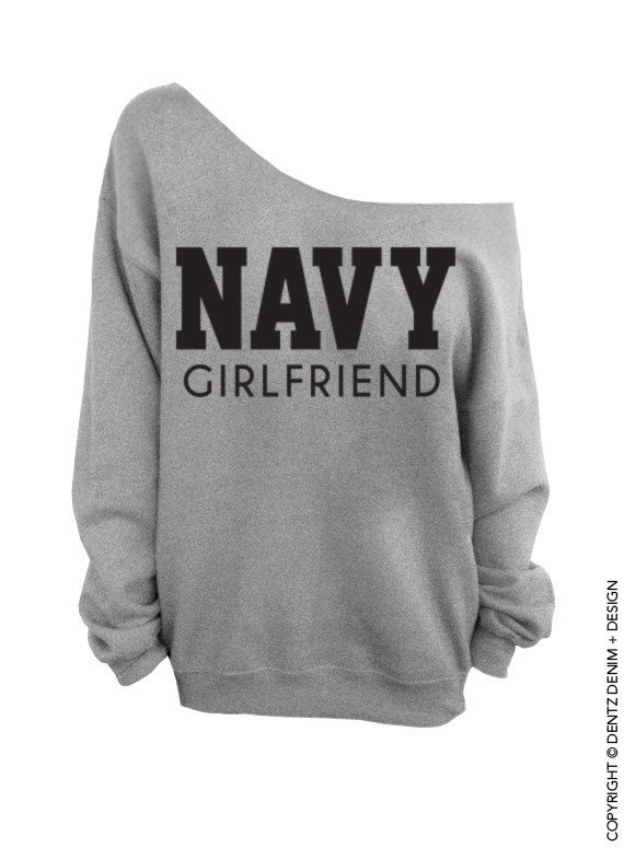 "Use coupon code ""pinterest"" Navy Girlfriend - Gray Slouchy Oversized Sweatshirt by DentzDenim"
