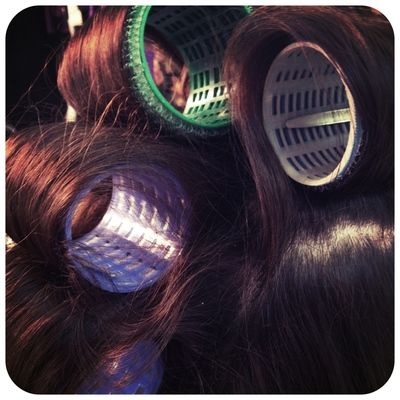 Curl with curling iron then wrap in velcro. Victoria's Secret hair!