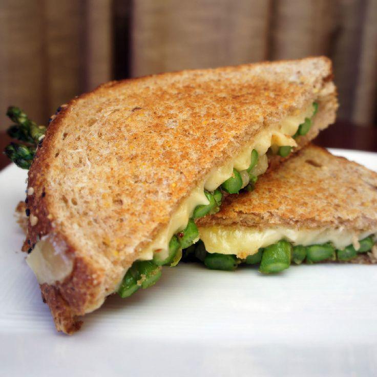 Asparagus Grilled Cheese Sandwich | AmateurKitchen.tv