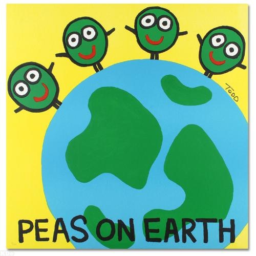"""""""Peas on Earth"""" LIMITED EDITION Lithograph by Todd Goldman"""