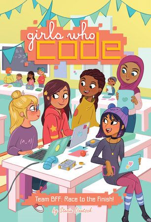 Best 584 new books for kids 2017 images on pinterest comic books girls who code team bff race to the finish bk 2 fandeluxe Image collections