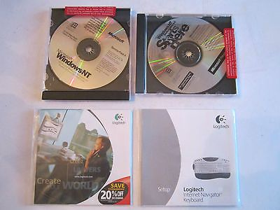 MICROSOFT WINDOWS NT & WINDOWS NT 4.0 & LOGITECH KEYBOARD SETUP & LOGITECH DISC