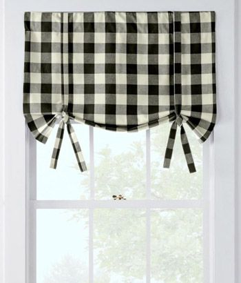 Buffalo Check Tie-Up Valance by Country Curtains - Pinned from iCatalog™