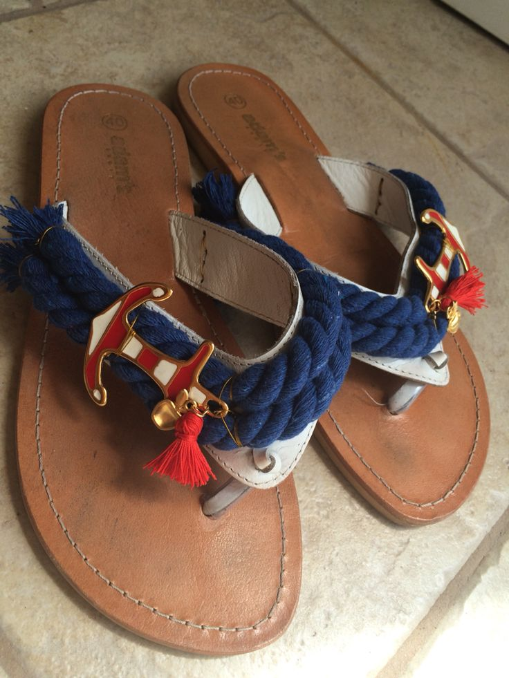 Hand Decorated sandals by Oly Joly!
