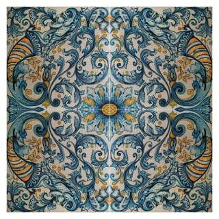 This Baroque Italian tile would have been used on floors to give pattern in a room, as well as looking expensive and upper class.