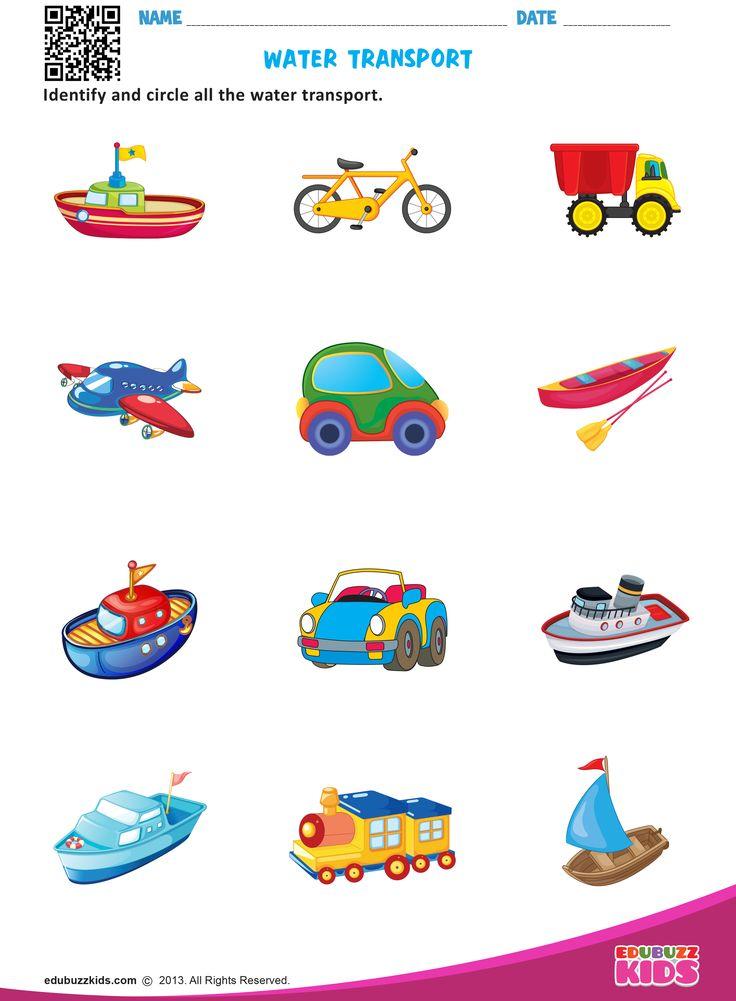 Free science transportation #worksheets for preschool ...