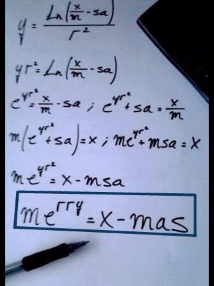 A math-y Merry X-Mas                                                                                                                                                                                 Más