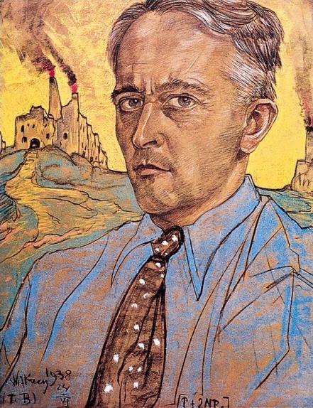 Witkacy, czyli Stanislaw Ignacy Witkiewicz - Autoportret. - Pastel.