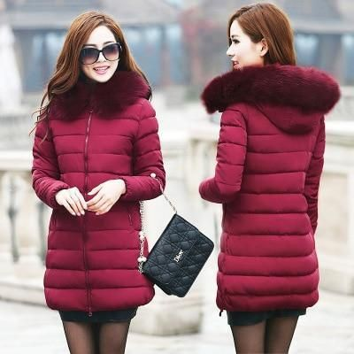 Hot sale women's coat Korean version long cotton padded lady's thicker cottonliilgal 2