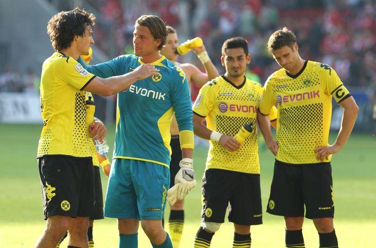 Roman Weidenfeller, Mats Hummels, Ilkay Gündogan, Sebastian Kehl - 1. FSV Mainz 05 - BVB