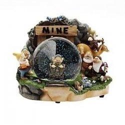 Disney Snow white Dwarfs Dopey Mine Snowglobe