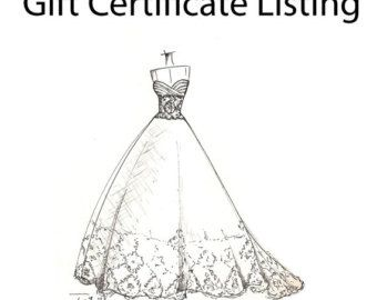 Weddinng dress illustration