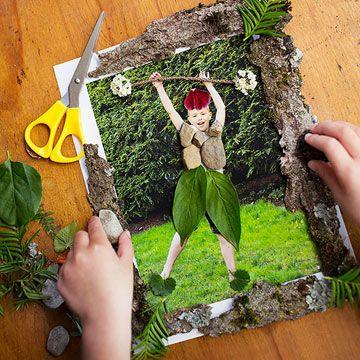 Ideeën om met natuurlijke materialen te knutselen. All Natural Artwork for Kids - Parents.com