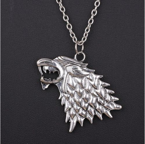 New Fashion Game of Thrones Stark Direwolf Vintage Pendant Inspired Necklace
