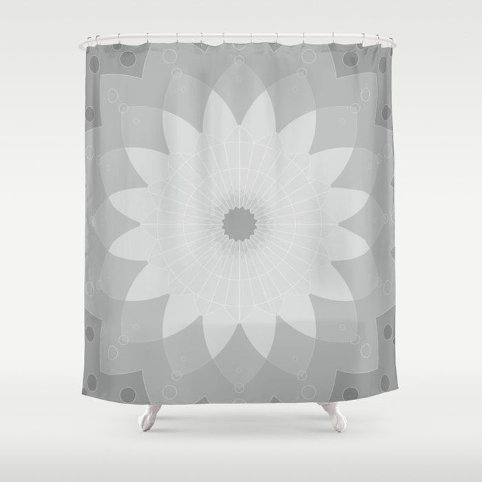 Tapestry Grey Mandala Society6 Decor Buyart Artprint Shower Curtain By Lyovajan Society6 Shower Curtain Curtains Mandala Shower Curtain