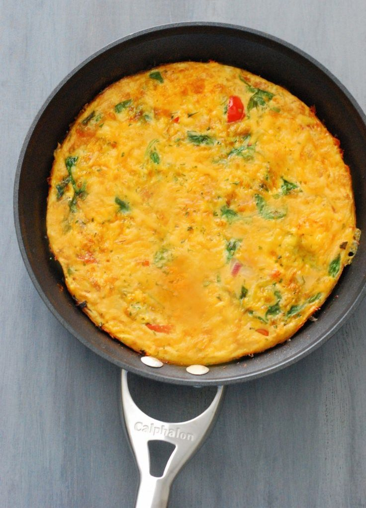 Veggie Frittata with Hot Sauce - Perfect for next breakfast in bed or meal prep for the week.