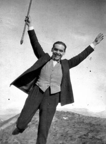 Federico García Lorca en 1925 fotografiado por Luis Buñuel