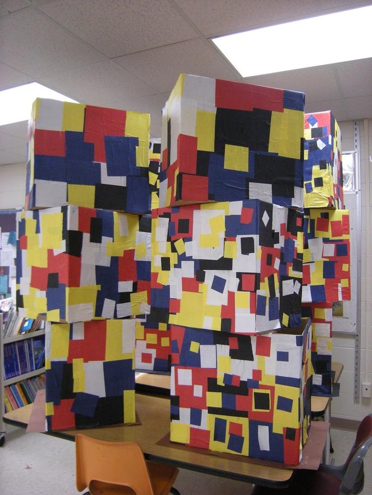 Grade 1 Mondrian collaborative project