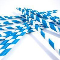 Blue & White Party Straws by Bella Cupcake Couture includes 24 $5.99